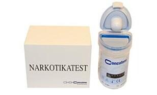 NARKOTIKATEST: På apoteket kan man få kjøpt urintester som avslører om personen har brukt kokain, amfetamin, cannabis, metamfetamin, morfin og benzodiazepiner. Foto: Apotek1