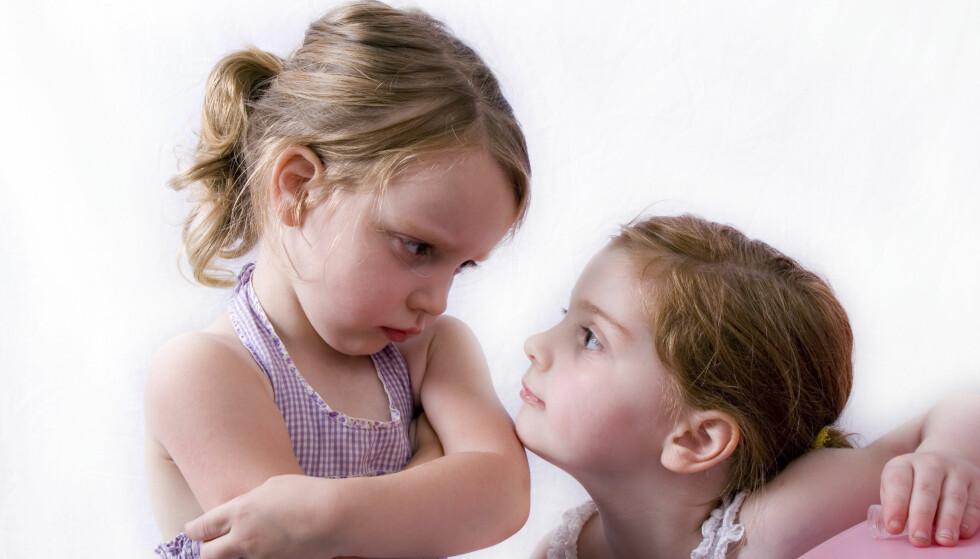 EKSTREM SØSKENSJALUSI: Søskensjalusi er helt normalt, men i enkelte familier kan det bli et stort problem. Foto: NTB Scanpix