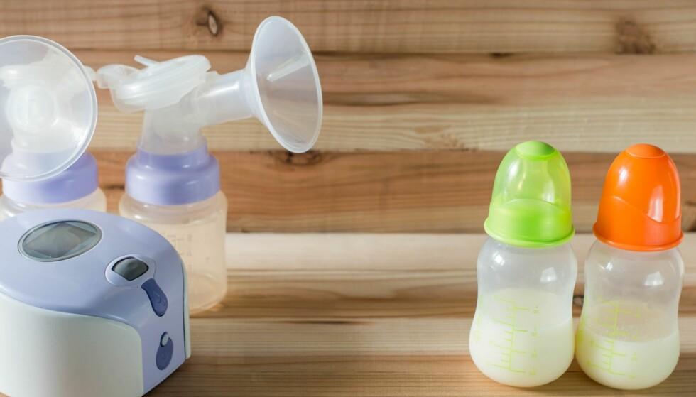 ELEKTRISK PUMPE TIL BRYSTMELK: Det finnes forskjellige typer elektriske pumper som kan kjøpes på apoteket, eller leies fra apotek eller sykehus. Foto: NTB Scanpix