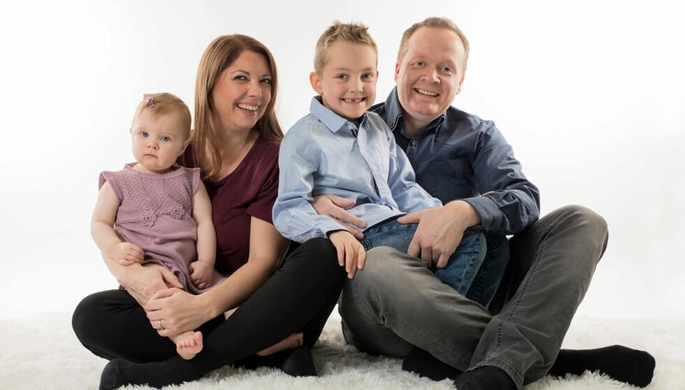 FIKK DET VELDIG TRAVELT: Pappa Morten ble litt stresset, men klarte å holde hodet kaldt på vei til sykehuset. Foto: Privat