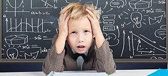 Flere barn utvikler symptomer på stress