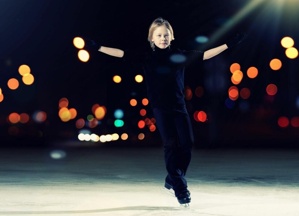 KUNSTLØP: Tall fra Norges Idrettsforbund viser at det er langt flere jenter enn gutter som driver med kunstløp. Foto: NTB Scanpix