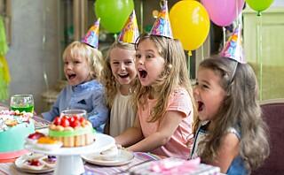 - Å starte med barnebursdager for tidlig kan skape et press