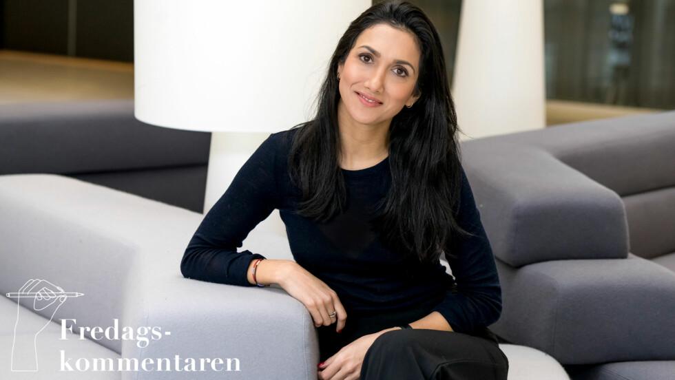 MINA GHABEL LUNDE: Denne uken skriver Mina Ghabel Lunde om avgjørelsen om å slutte i DN og starte for seg selv.  Foto: Per Ervland