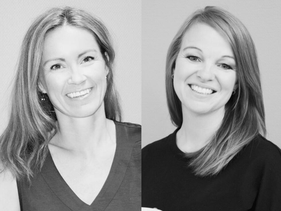 AMBISJONER OM VEKST: Kjersti Rynning og Trine Romskoug etablerte selskap sammen i 2013. De håper å være rundt tjue ansatte i 2020. Foto: Presse