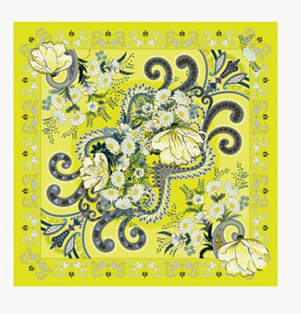 Skjerf fra Holzweiler   kr 800   https://www.holzweiler.no/product/paisley-yellow-fine-blend-square