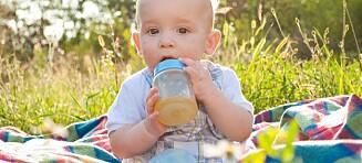 Juice bør kun gis i små mengder det første året