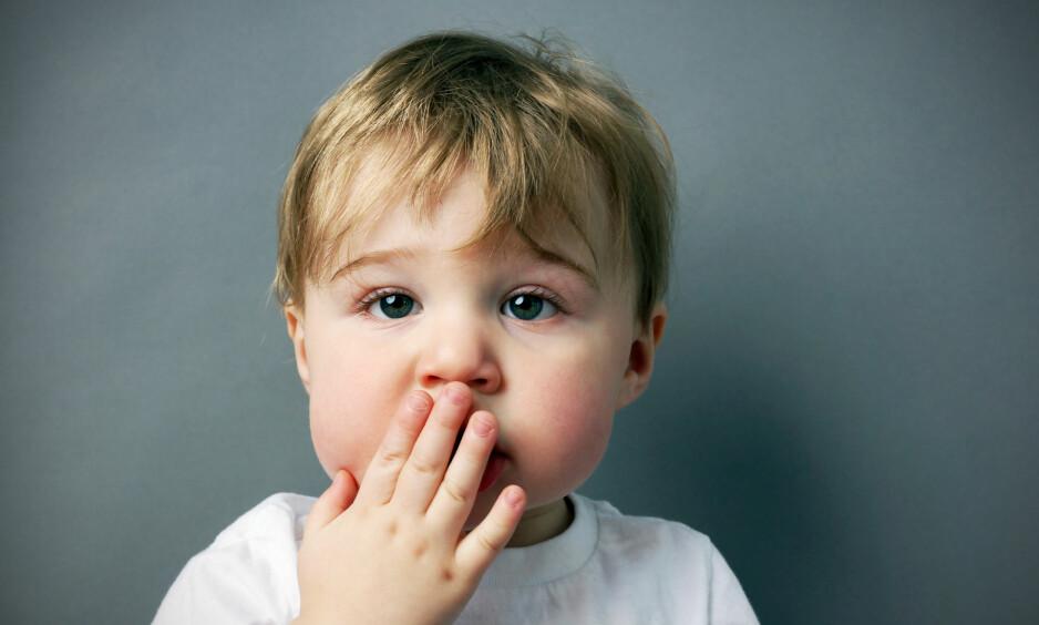 <strong>NÅR SMÅ BARN STAMMER:</strong> Ifølge logopedene kan det dreie seg om helt normal småbarns-stotring. Foto: PNTB scanpix