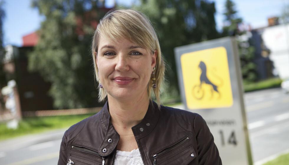 BARN BØR SYKLE MER: Inger Elisabeth Sagedal i NAF mener vi voksne må oppfordre barna til mer sykling, da det er viktig for opplæringen av fremtidens trafikanter. Foto: NAF