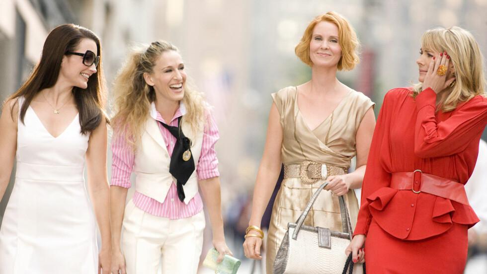 KJENT GJENG: Kristin Davis, Sarah Jessica Parker, Cynthia Nixon og Kim Cattrall spilte hovedrollene i TV-serien og filmatiseringen av «Sex and the City». Foto: Mary Evans Picture