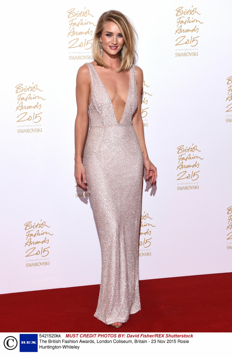 <strong>STRÅLTE:</strong> Modell Rosie Huntington-Whiteley. Foto: Rex Features