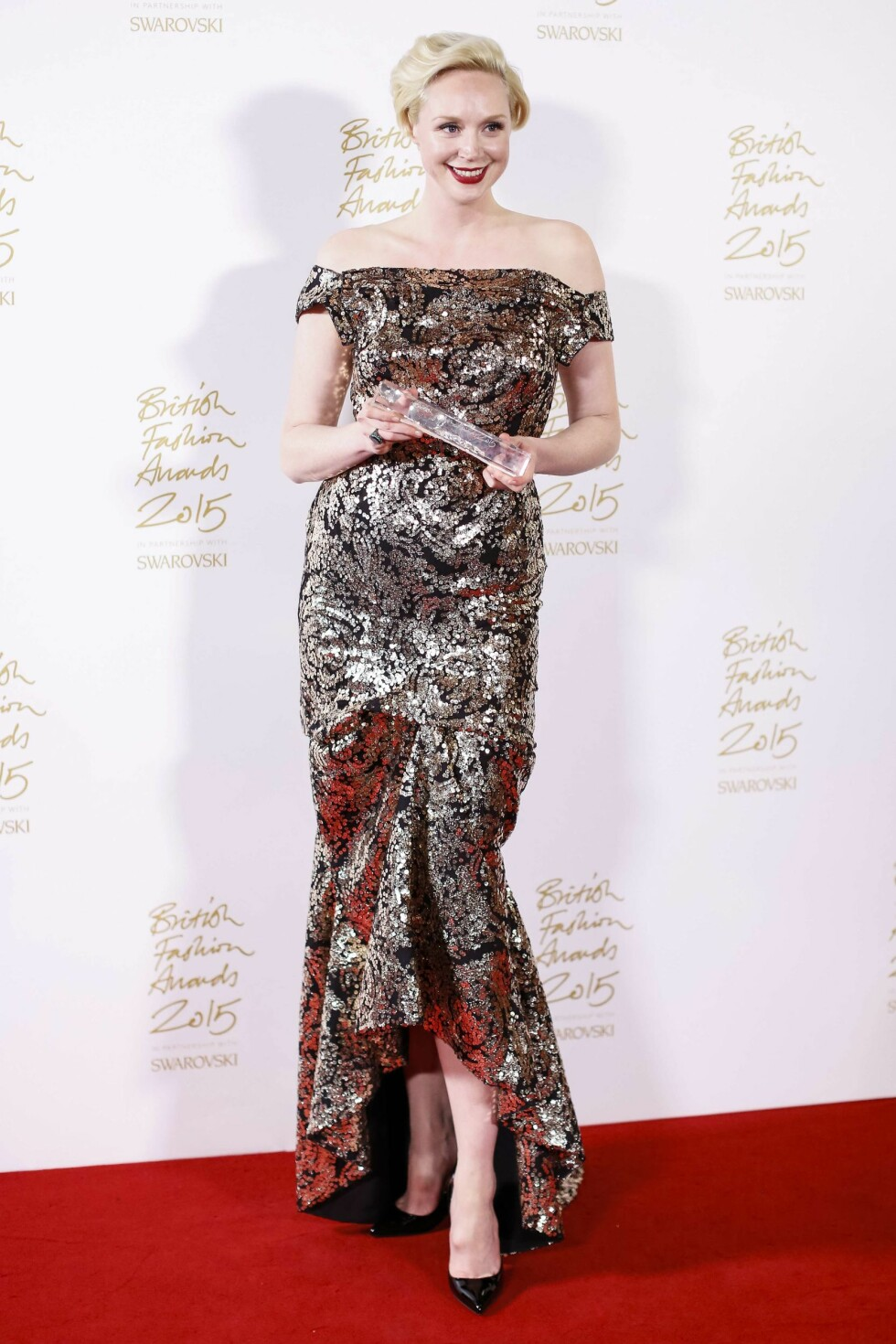 <strong>GLITRENDE:</strong> «Game of Thrones»-stjerne Gwendoline Christie. Foto: Afp
