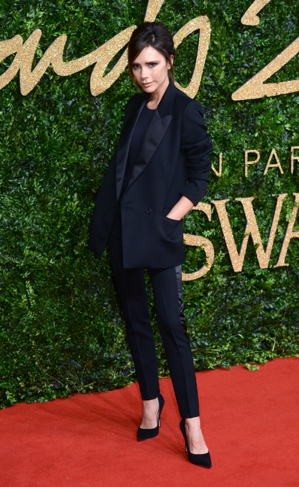 <strong>DRESS:</strong> Designer Victoria Beckham. Foto: Pa Photos
