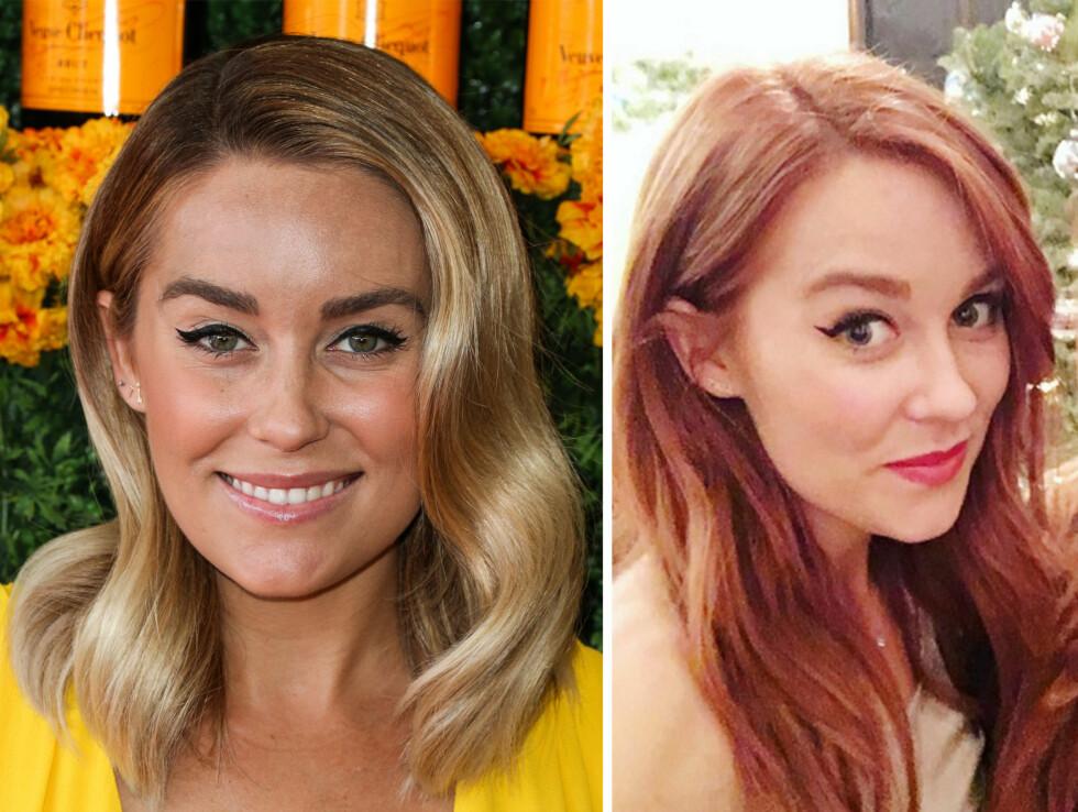 LAUREN CONRAD: Siste uken før julaften overrasket reality-kjendis Lauren Conrad (29) med en ny, rødhåret look. Foto: NTB Scanpix