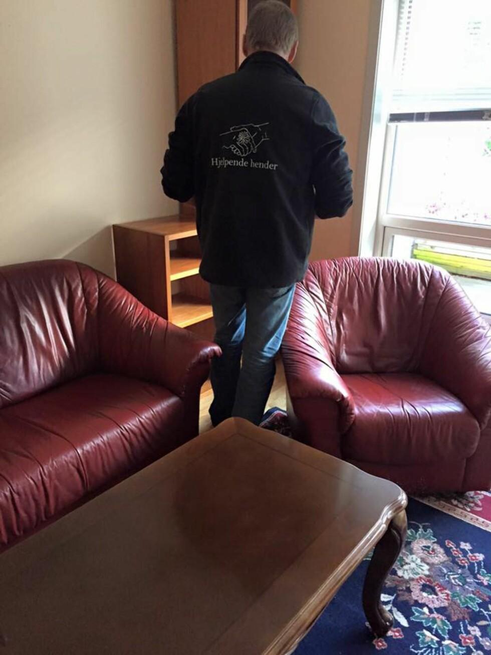 MØBEL-HJELP: Fra en av de mange leilighetene Ellen har hjulpet til med å skaffe møbler til.  Foto: PRIVAT