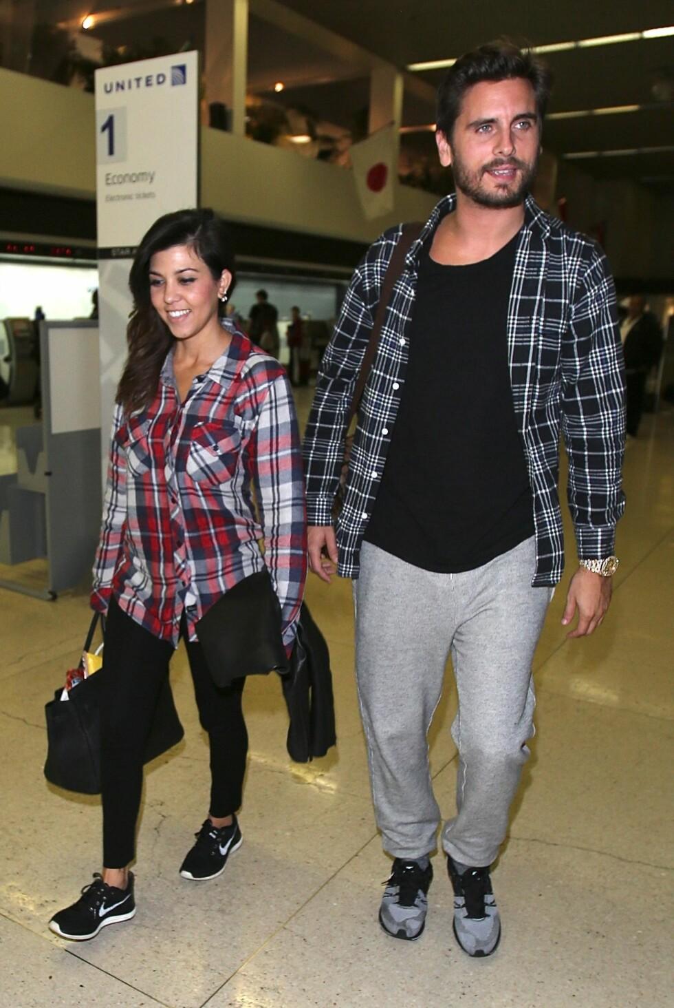 TATT PÅ FERSKEN: Kourtney Kardashian dumpet Scott Disick, som er faren til hennes tre barn, etter at han ble fotografert i het flørt med en eks-kjæreste. Foto: wenn.com