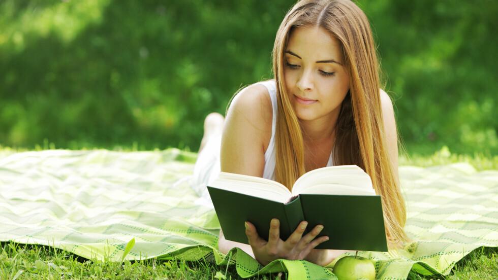 SOMMERTID ER LESETID: Hva er vel bedre enn en god bok i sommervarmen? Foto: stokkete - Fotolia