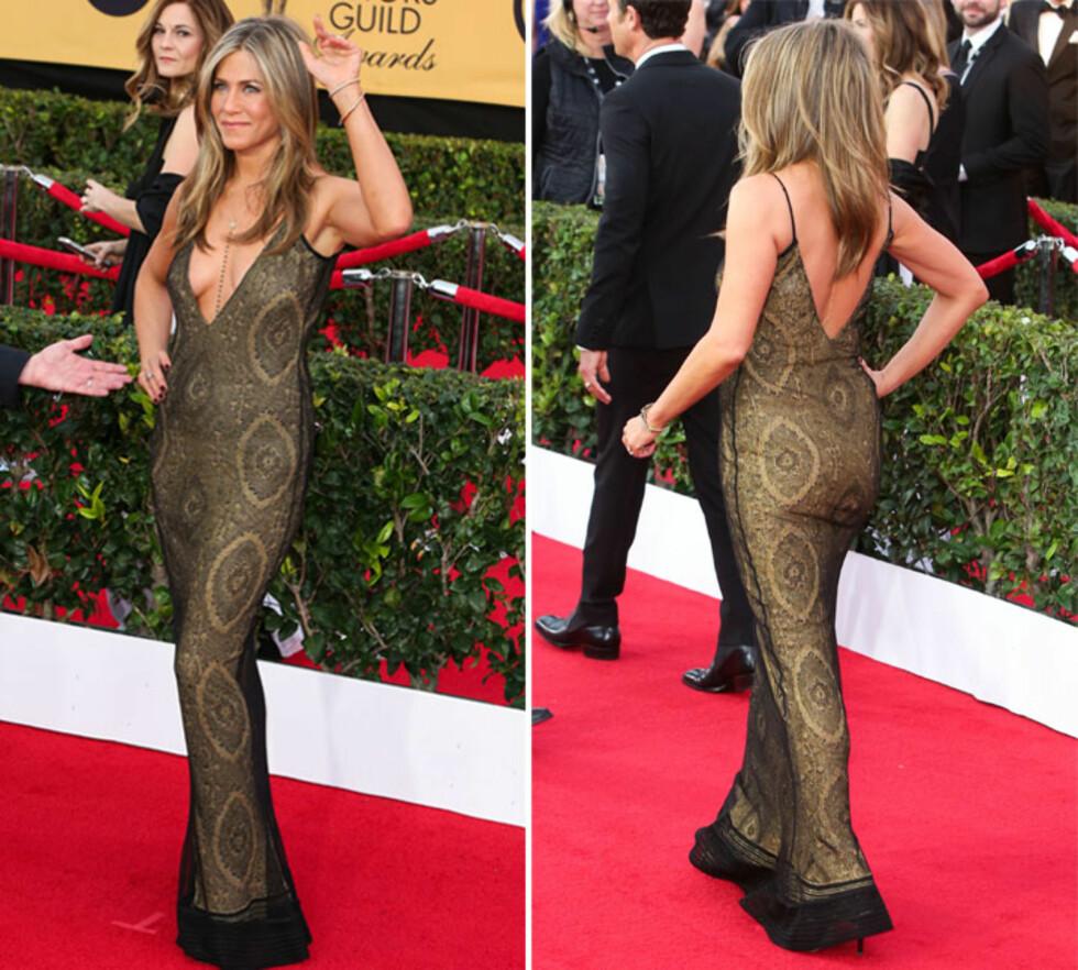 LEKKER: Jennifer Aniston er 46 år gammel, men har en kropp de fleste bare kan drømme om. Foto: Scanpix