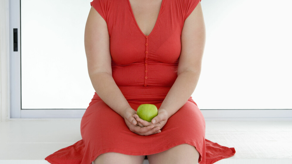 KAN VÆRE GRUNNEN: Skjoldkjertelen kan ha skyld i at du ikke går ned i vekt, til tross for trening og sunt kosthold. Foto: © Heide Benser/Corbis