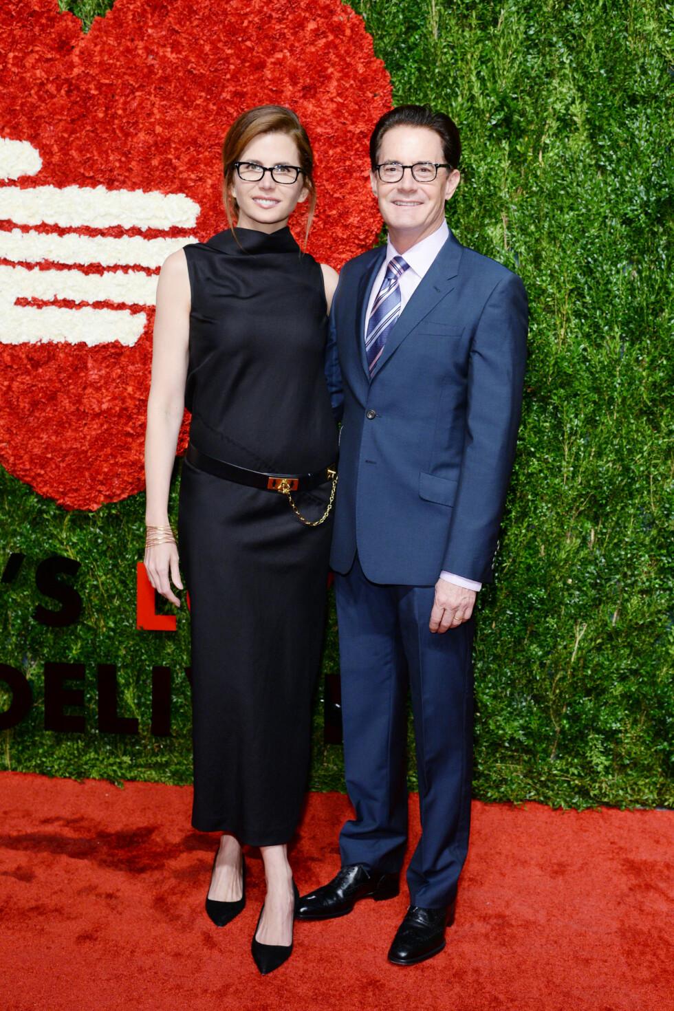 FLOTT PAR: Kyle MacLachlan er gift med TV-produsent Desiree Gruber. De har ett barn sammen. Dette bildet er tatt i oktober under Golden Heart Awards Celebration i New York. Foto: NTB Scanpix