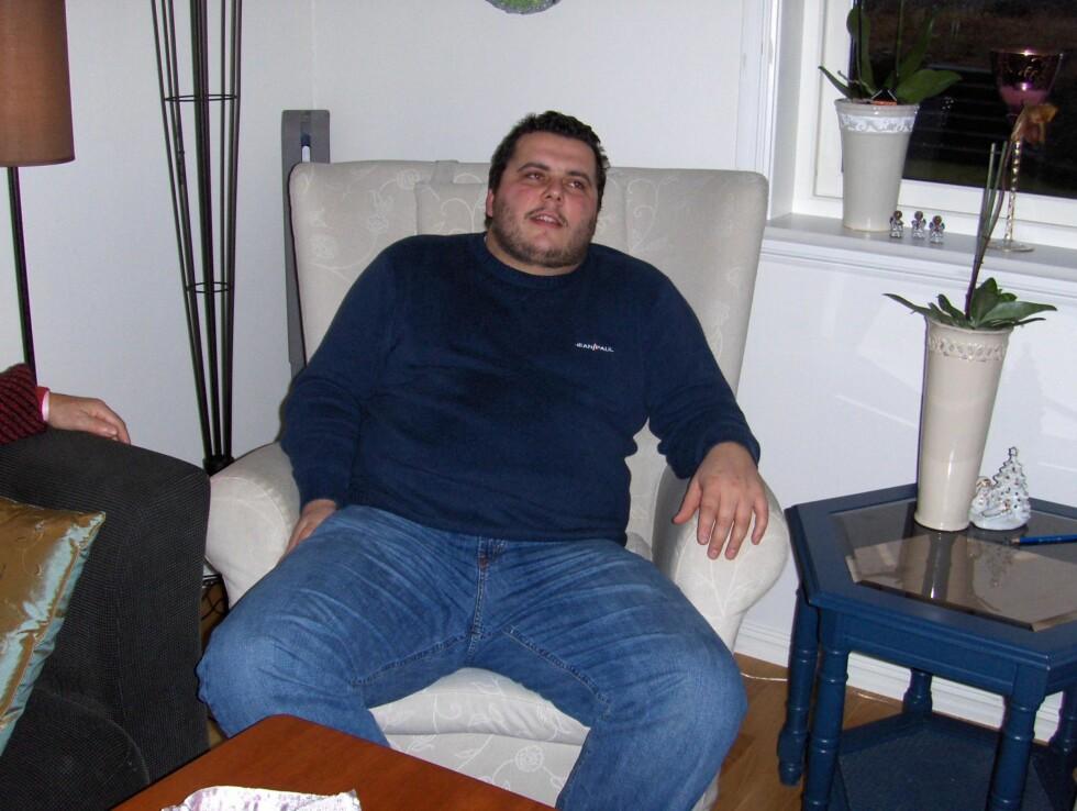 <strong>FØR:</strong> Her veide Anders opp mot 140 kilo. Foto: Privat