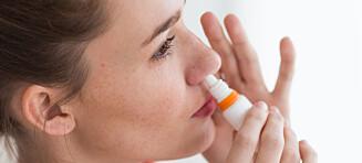 Bytt ut nesespray med dette