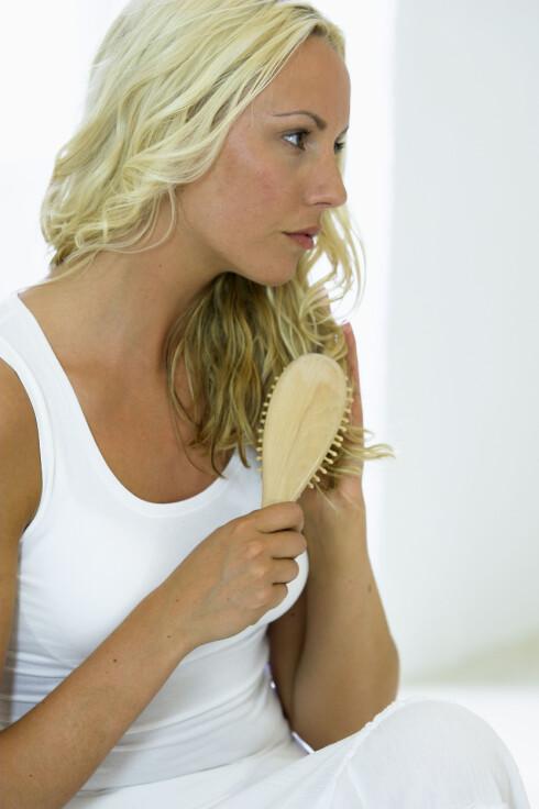 BRUKER DU RIKTIG HÅRBØRSTE? En myk børste er skånsom mot håret.  Foto: Scanpix