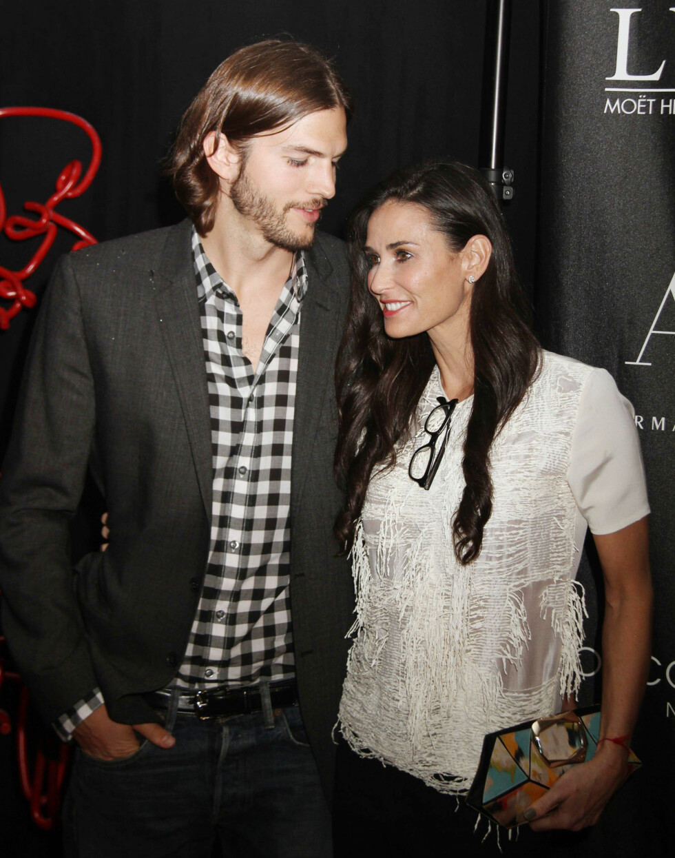 <strong>16 ÅRS FORSKJELL:</strong> Lykken brast for skuespillerparet Demi Moore (53) og Ashton Kutcher (37) i 2013. Da hadde de vært gift siden 2005. I dag er han lykkelig gift med sin tidligere TV-kollega Mila Kunis (32), som han har datteren Wyatt Isabelle (1) med. Foto: NTB Scanpix