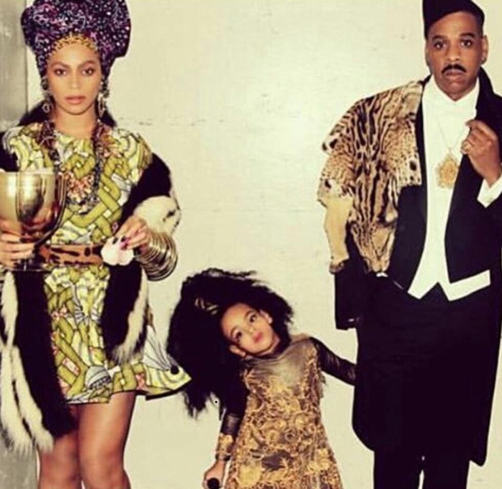 <strong>11 ÅRS FORSKJELL:</strong> Det mektige superparet Beyoncé Knowles (34) og Jay Z (45) giftet seg i 2008. De har datteren Blue Ivy Carter (3) sammen. Foto: NTB Scanpix