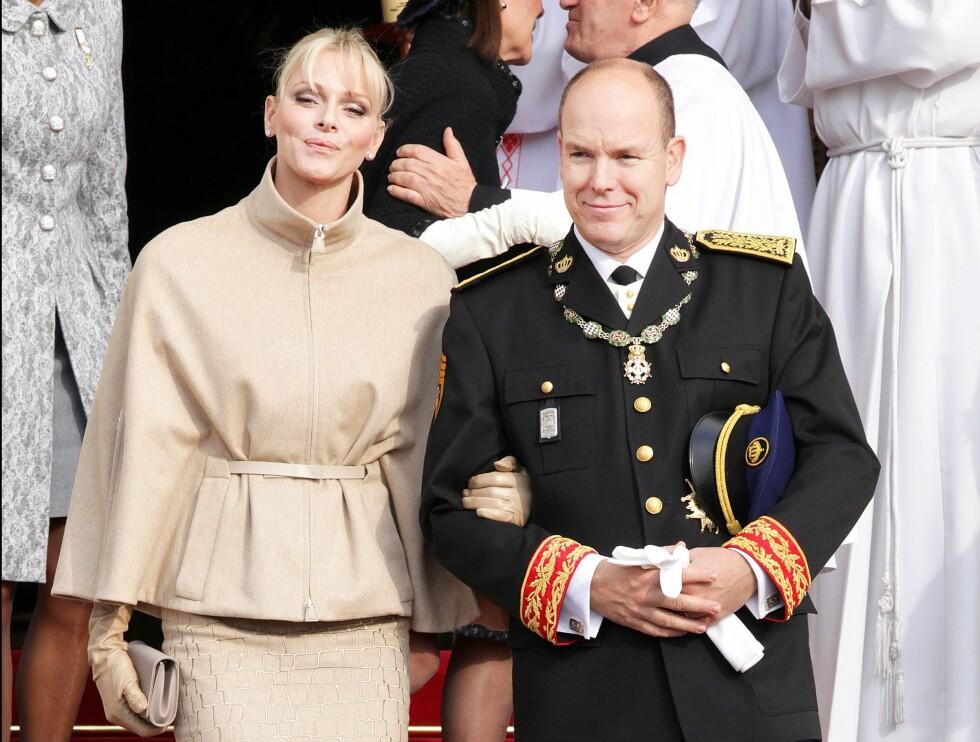 <strong>20 ÅRS FORSKJELL:</strong> Men det er ikke bare i Hollywood at aldersforskjellen på parene er store - også i de rojale rekker finner vi eksempler. Blant andre, fyrst Albert (57) av Monaco og hans kone prinsesse Charlene (37). De giftet seg i 2011, og er foreldre til tvillingene Jacques og Gabriella (snart 1 år). Foto: NTB Scanpix