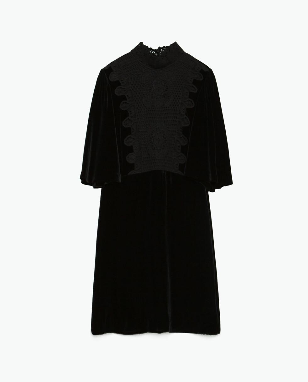Kjole i speilfløyel fra Zara, kr 999. Foto: Produsenten