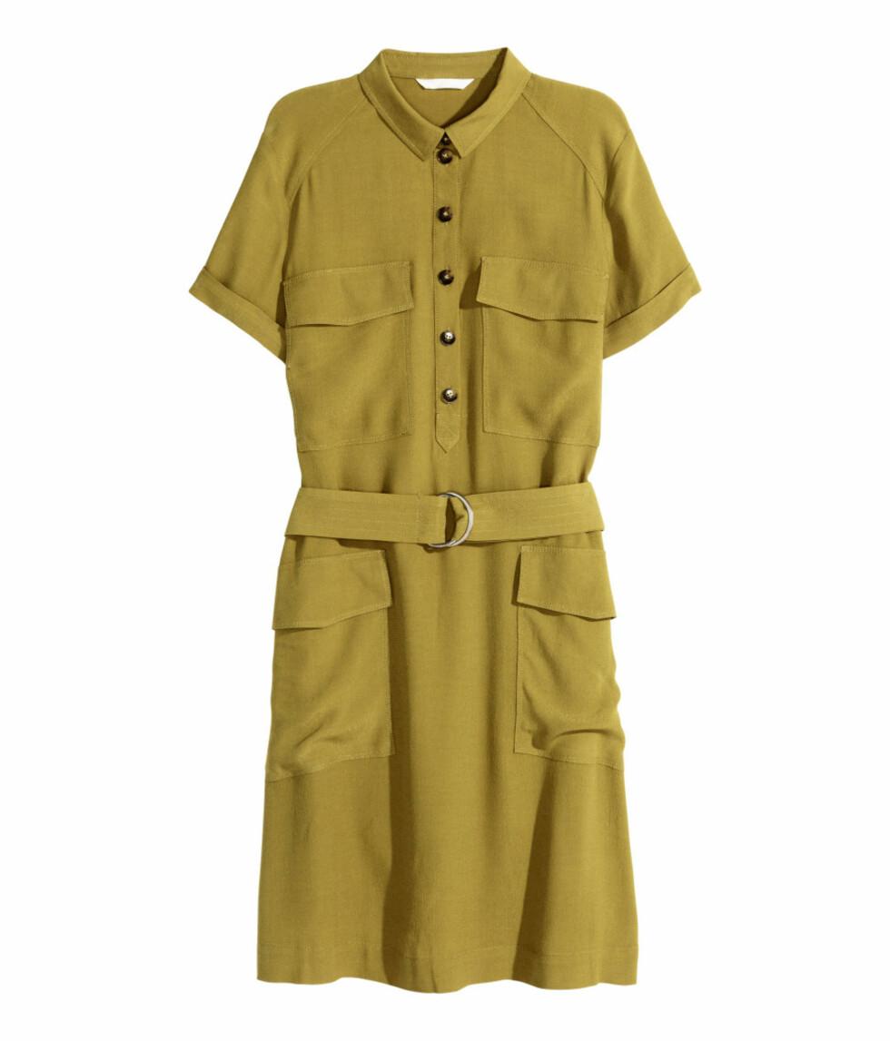 Skjortekjole fra H&M, kr 299. Foto: Produsenten