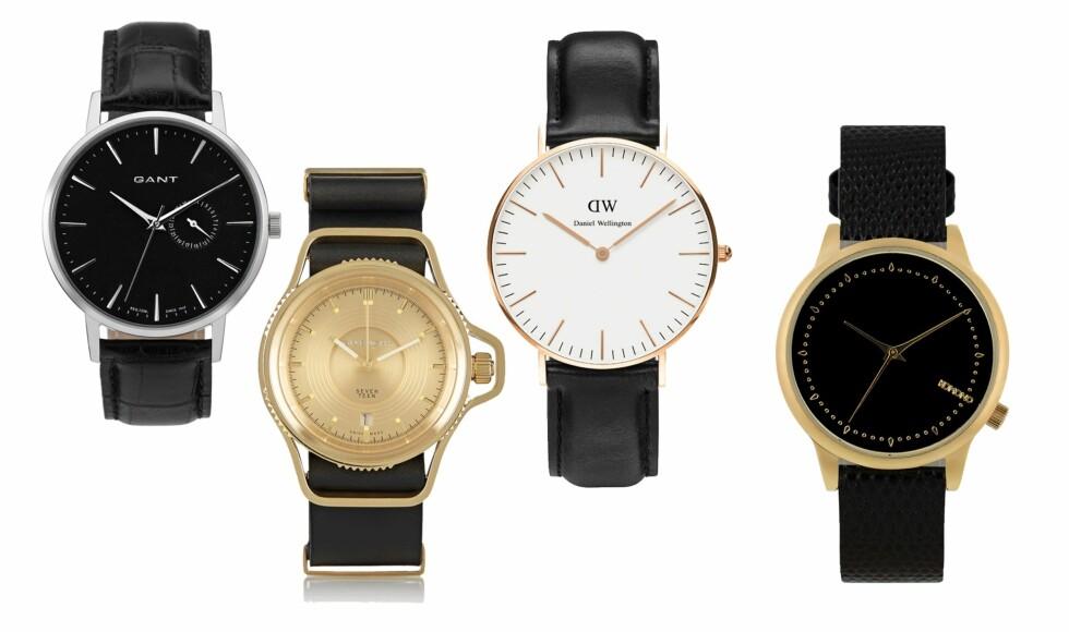 TIDENES TREND: Klokka. Gå for tidløst tilbehør og smykk opp håndleddet med en klokke. Foto: Produsentene