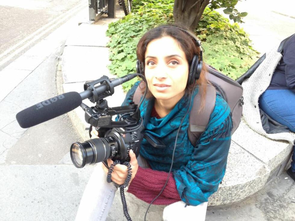 HADDE ALDRI LAGET FILM: Uten filmutdannelse eller teknisk kunnskap, gikk hun ut og kjøpte utstyr og begynte på sin første dokumentarfilm. Foto: Privat