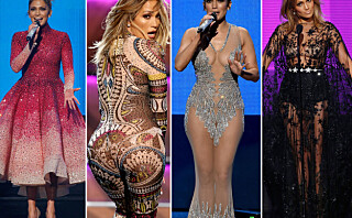 Jennifer Lopez byttet antrekk ni ganger