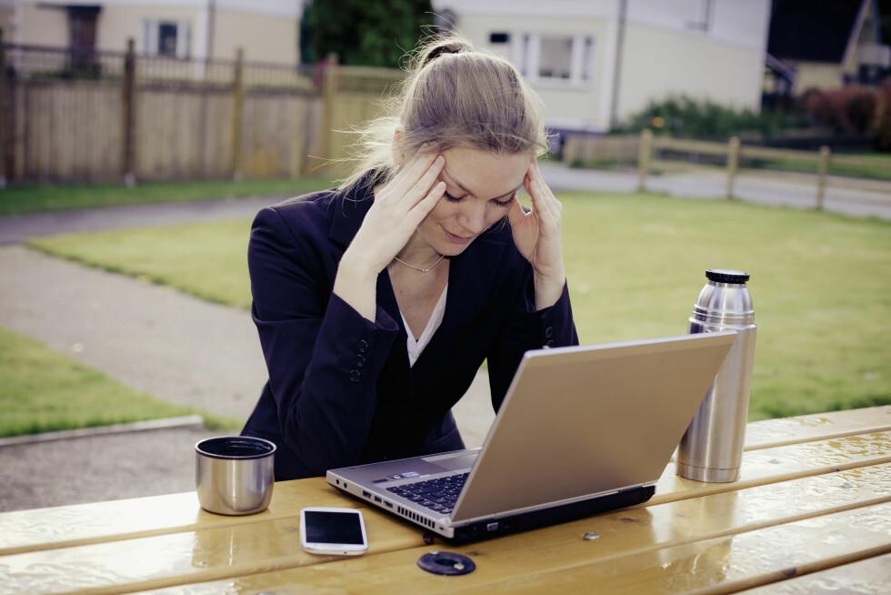 STRESS: Stress kan være en av årsakene til smerter i kjeven. Foto: Scanpix