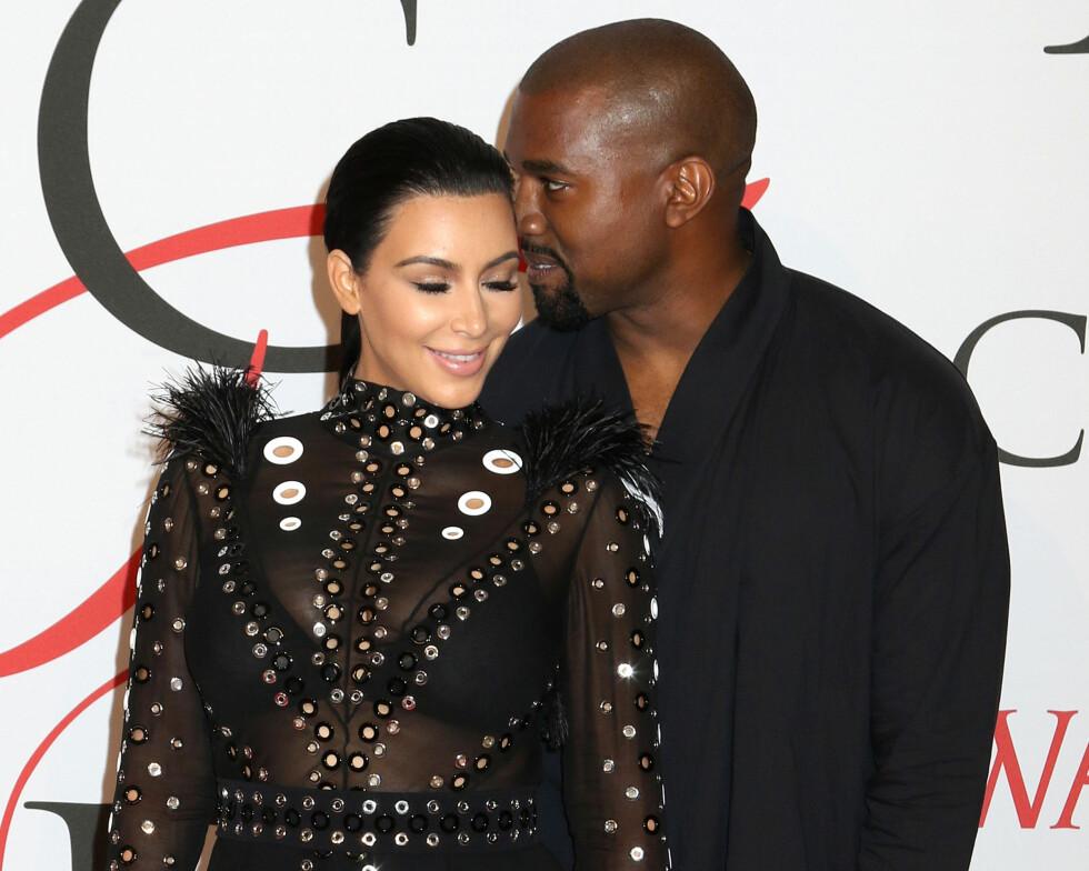 VÆR RAUS: Kim Kardashian West og ektemannen Kanye sier at de behandler hverandre som om det er den andres bursdag hver dag.  Foto: Pa Photos