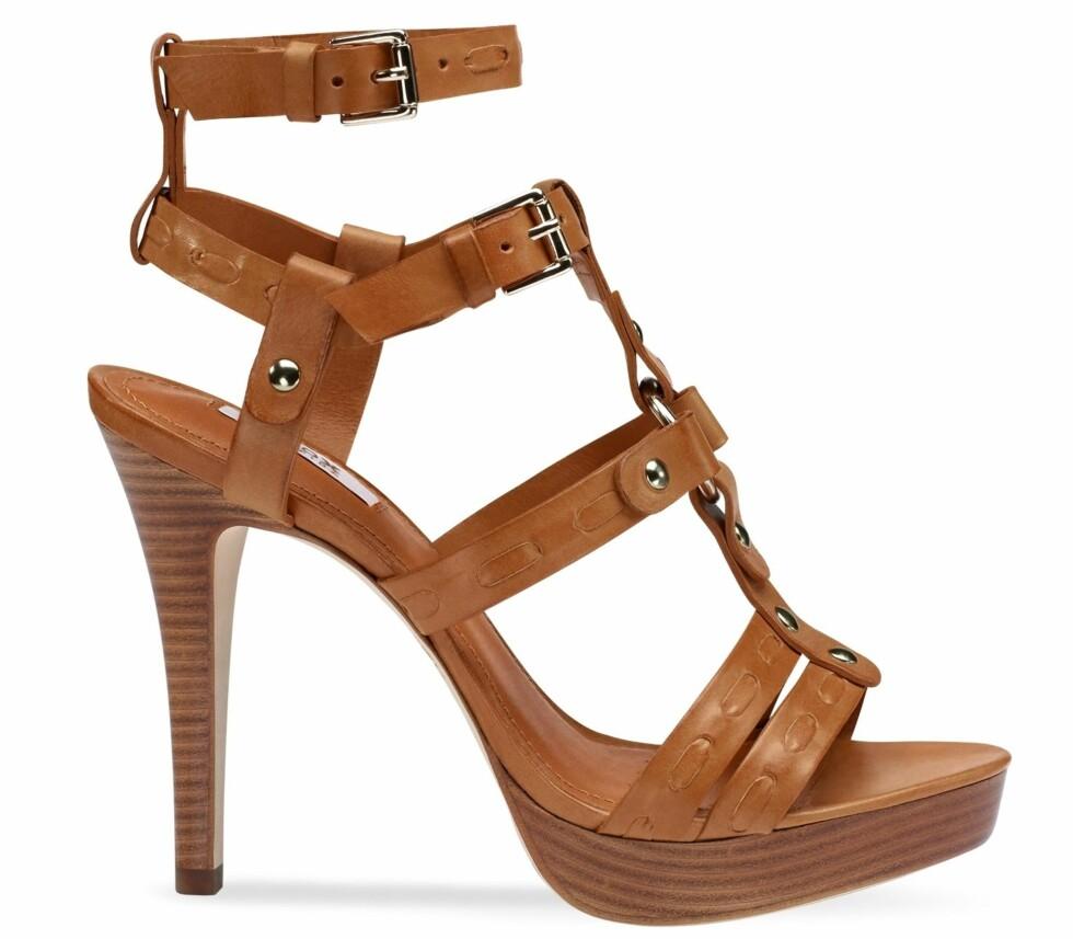 Sandaler med høy hæl (kr 1300, Geox). Foto: Produsenten