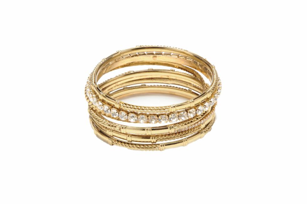 Armbånd i gull med steiner, kr 799. Foto: Produsenten
