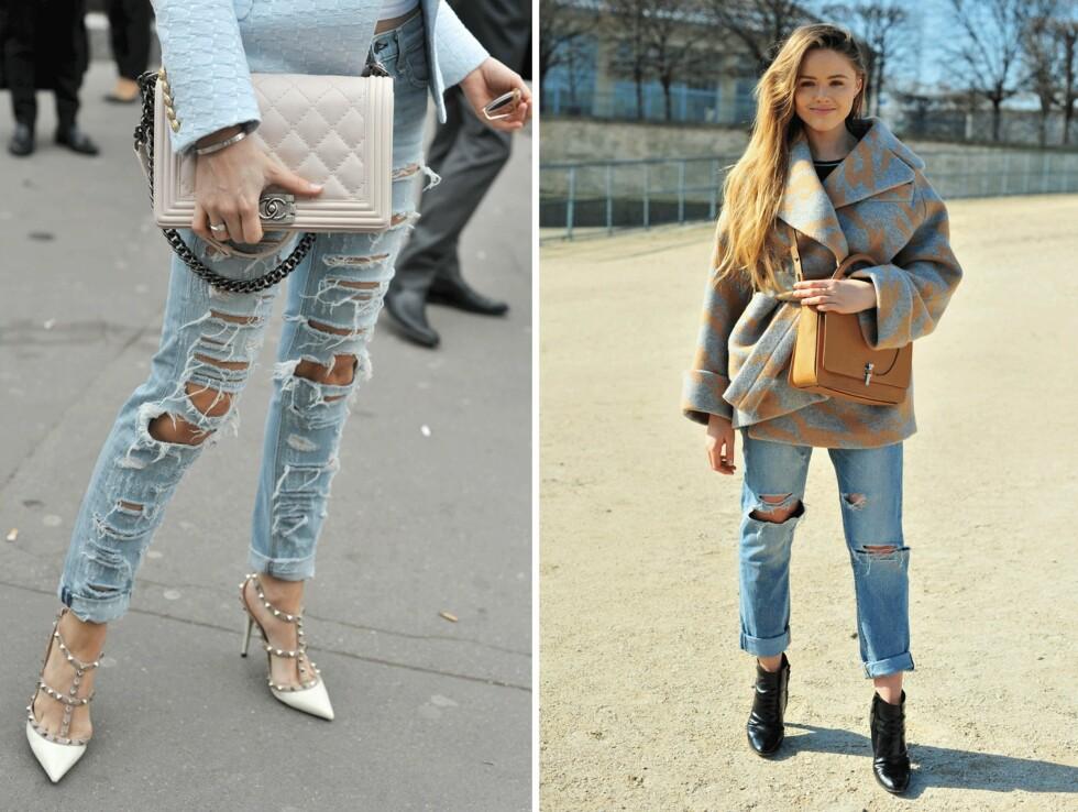 BRETT OPP BUKSA: Sammen med de avslappede jeansene og de pyntede hælene får du en kul look! Foto: Scanpix