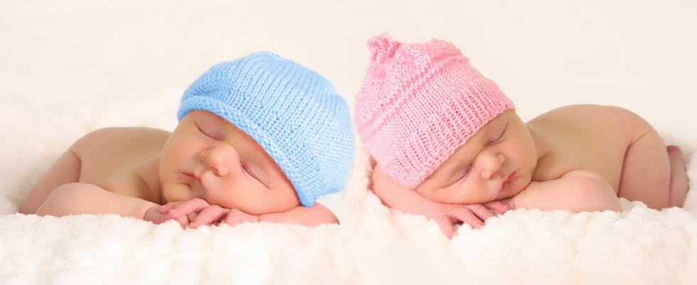 ØKNING: Antall tvillinger og trillinger i Norge har økt jevnlig med årene. Noe av dette kan skyldes mors høye alder.  Foto: Fotolia