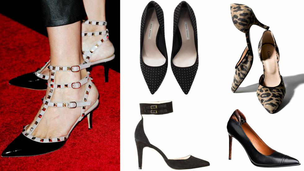 <strong>JO SPISSERE PUMPS, DESTO BEDRE:</strong> Ja, velger du riktig tupp på skoene, får både kjolen og beina dine et ekstra lite løft... Foto: All Over Press/Produsenter