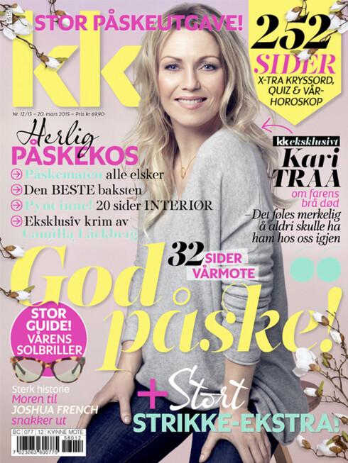 KARI TRAA: pryder coveret på KKs store påskenummer, i salg fra 20. mars. Foto: All Over Press Norway/Ida Bjørvik