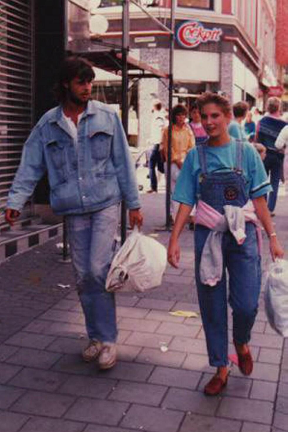 DEN GANG DA: Kjekke Espen og den litt yngre Cecilie, på flørteren. Foto: Privat/All Over Press