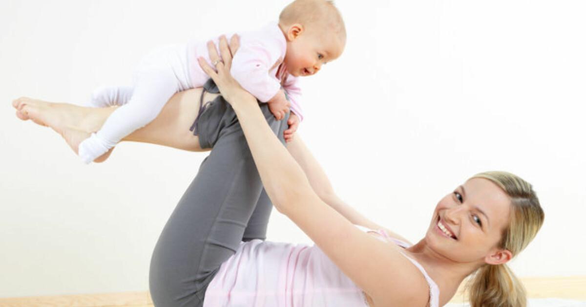 Baby: Så fort kan du trene etter fødsel