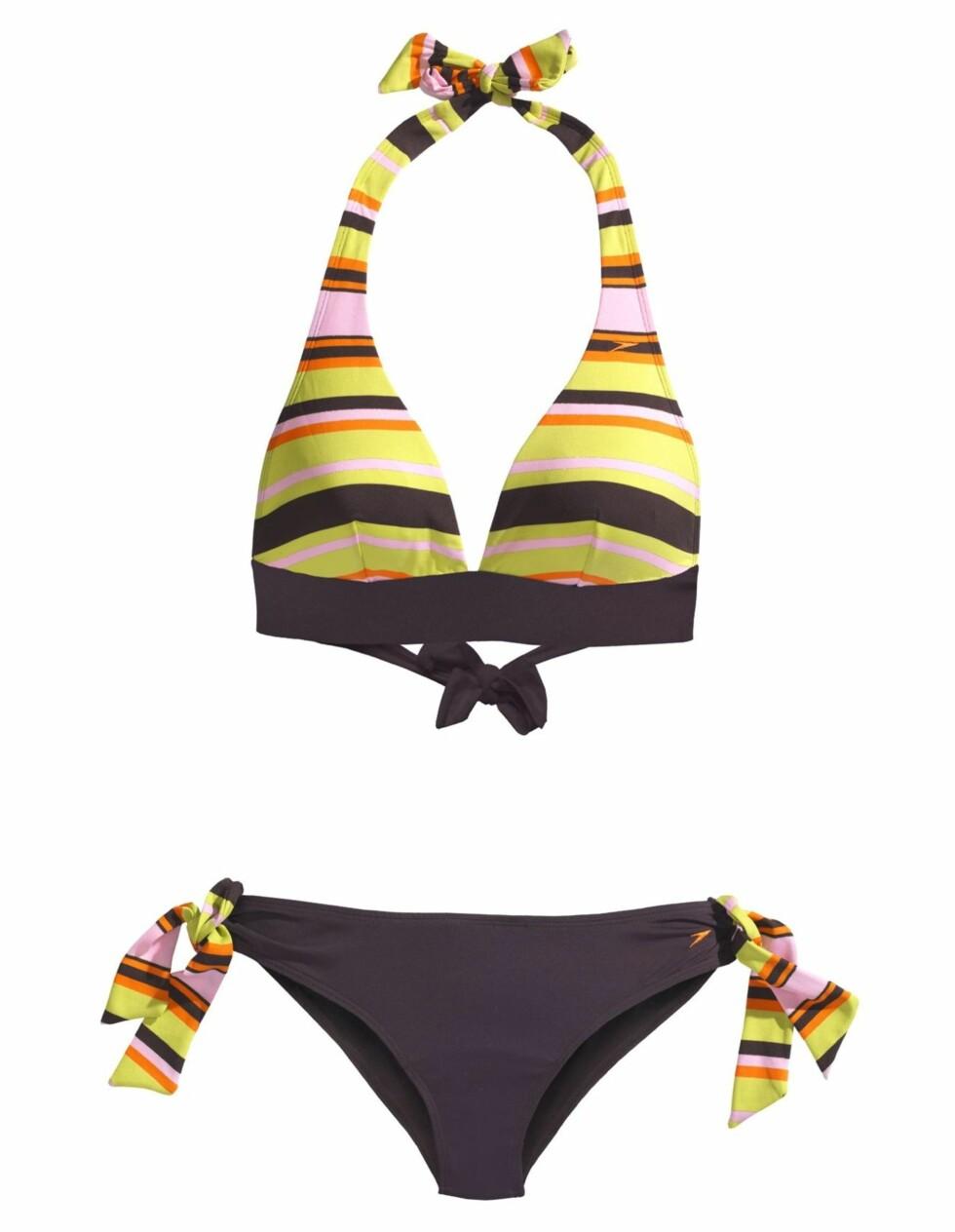 SPORT: Sprekt sett med striper og sløyfer (kr 750, Speedo).