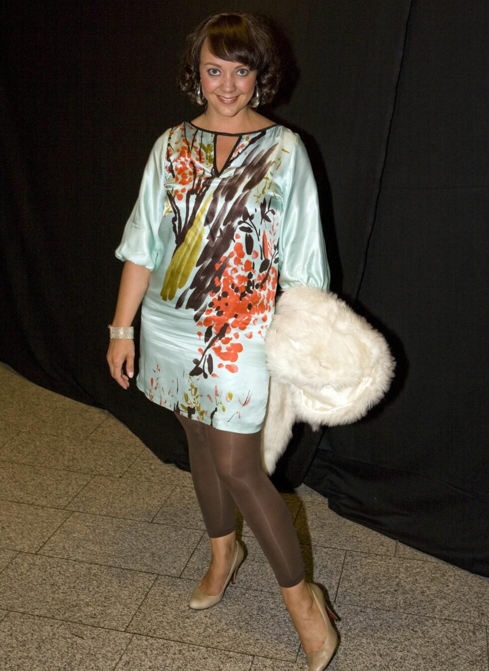 Marianne Westby, kjent fra Hotel Cæsar, kom i kjole fra Zara, sko fra Wedins og pels fra Vila.