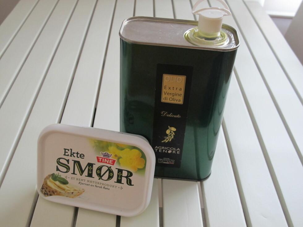 GODT: Du velger selv hva slags olje du vil bruke - olivenolje, rapsolje, solsikkeolje. Foto: Stine Okkelmo
