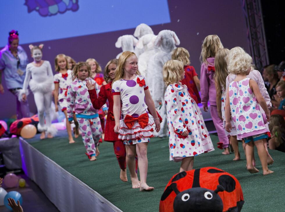 <strong>BORTE:</strong> Barnekolleksjonen Fam Irvoll viste på Oslo Fashion Week for en måned siden er stjålet. Nå ber hun om hjelp fra publikum til å oppklare. Foto: Per Ervland