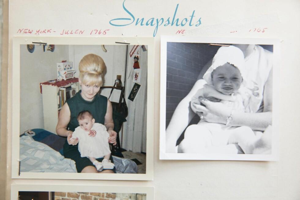 LITEN BABY: Ditte med moren Grete rett etter ankomsten til Danmark. Foto: All Over Press